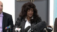 Dominatrix Terri-Jean Bedford is calling it emancipation day for sex trade workers after an Ontario court struck down key provisions of Canada's anti-prostitution laws, in Toronto Tuesday, Sept. 28, 2010.