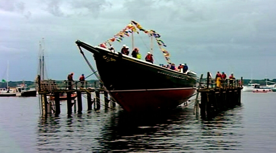 Bluenose II is returned to the waters in Lunenburg, N.S. on Sept. 29, 2012.