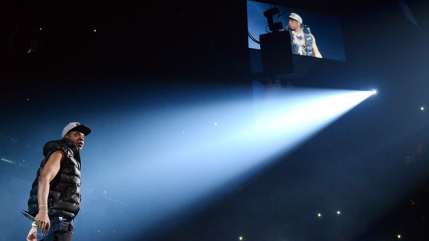 Rapper Jay-Z performs at the Barclays Center in Brooklyn on Sept. 28, 2012.