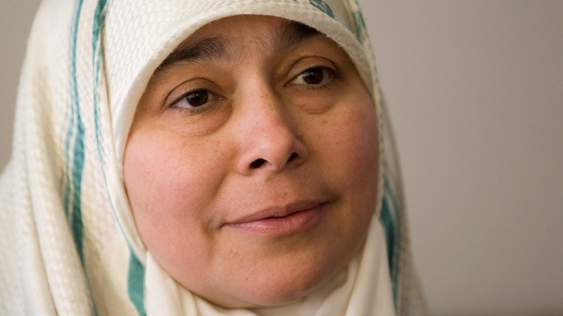 Maha Elsamnah, mother of Omar Khadr speaks with The Canadian Press at her home in Toronto, Tuesday July 15, 2008. (THE CANADIAN PRESS/Adrian Wyld)