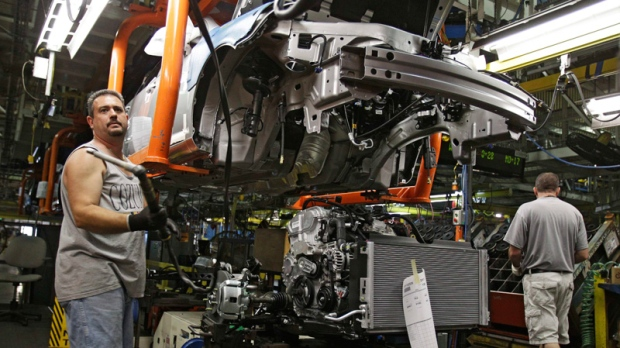 A 2011 Chevrolet Cobalt being assembled at GM's Lordstown Assembly plant June 15, 2010.