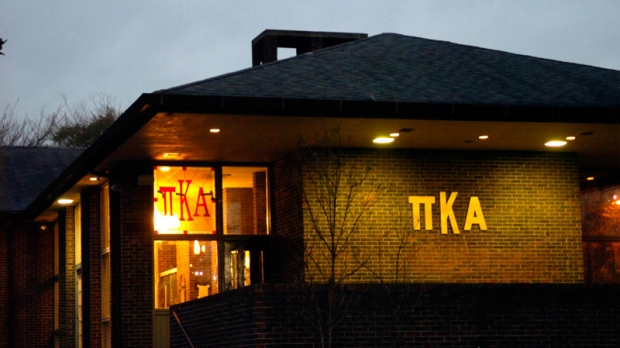 In a Jan. 17, 2007, photograph, the University of Tennessee Pi Kappa Alpha fraternity house is seen