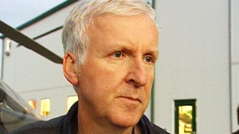 Canadian filmmaker James Cameron arrives in Fort McMurray, Alta, on Monday, Sept. 27, 2010.