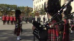 Bagpipes are played at The Manitoba Police and Peace Officers' Memorial Service Sunday.