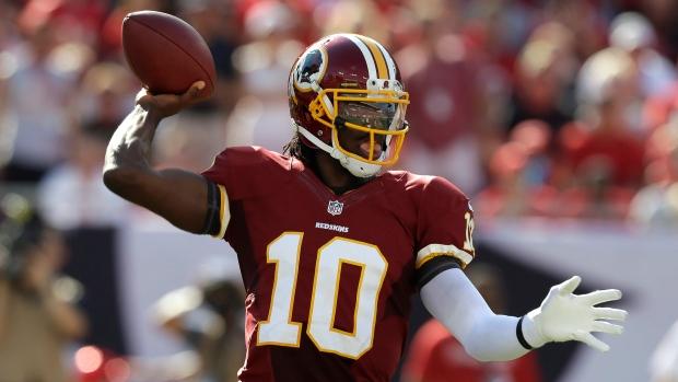 Washington Redskins quarterback Robert Griffin III
