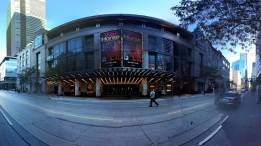 In this panoramic photo, the Princess of Wales Theatre is pictured on King Street on Monday, Oct. 1, 2012. (CP24/Mathew Reid)
