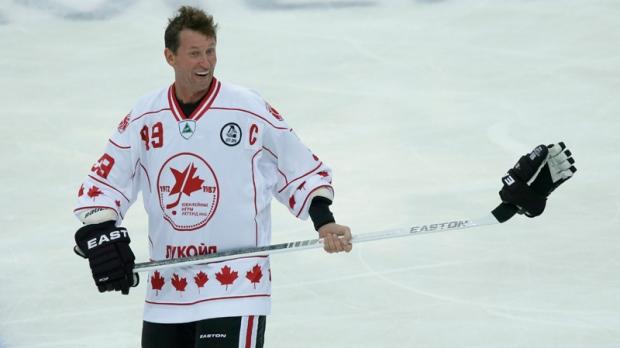 Wayne Gretzky in St. Petersburg, Russia on Sept. 5, 2012.
