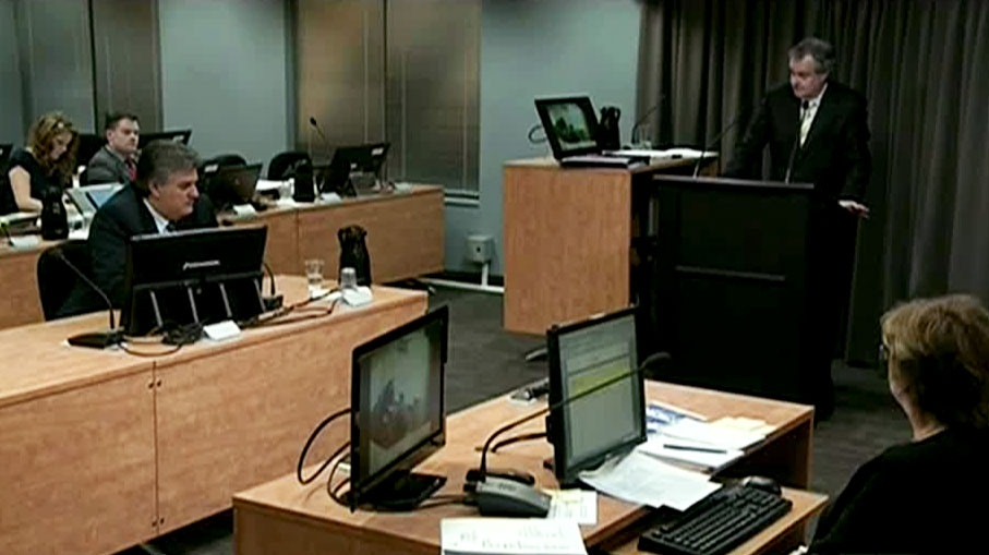 Quebec's corruption inquiry hears allegations that money from contracts went to the political party of Montreal Mayor Gerald Tremblay, Monday, Oct. 1, 2012.