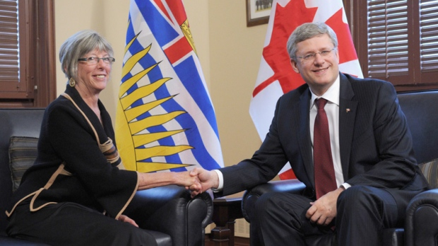 Prime Minister Stephen Harper and Judith Guichon in Ottawa on Oct. 1, 2012.