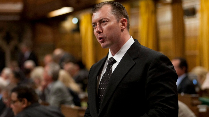 Conservative MP Rob Anders rises in the House of Commons in Ottawa, Wednesday, Sept. 26, 2012. (Adrian Wyld / THE CANADIAN PRESS)