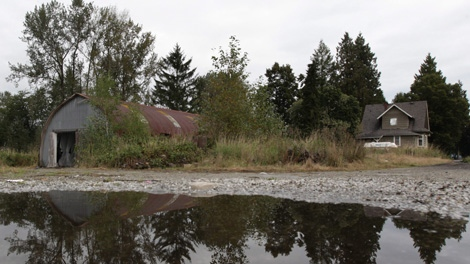 The property where a 16-year-old girl was allegedly drugged and gang raped during a rave party is pictured in Pitt Meadows, B.C., on Saturday September 18, 2010. (CP/Darryl Dyck)