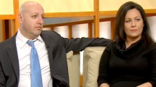 Ron Marzel, a criminal lawyer, and Natasha Falle, a former sex trade worker, in Canada AM studios, Wednesday, Sept. 29, 2010.