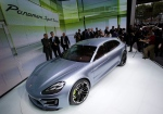 The new Porsche Panamera Sport Turismo concept car is displayed during media day at the Paris Auto Show, France, Thursday, Sept. 27, 2012. The Paris Auto Show will open its gates to the public from Sept. 29 to Oct. 14. (AP Photo/Michel Euler)