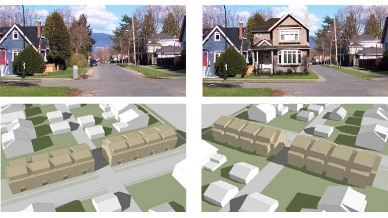 One of the contest winners of the re:THINK HOUSING competition suggested making Vancouver's city streets thinner to make room for affordable housing. The idea will be discussed at city hall on Oct. 2, 2012.  (Handout)