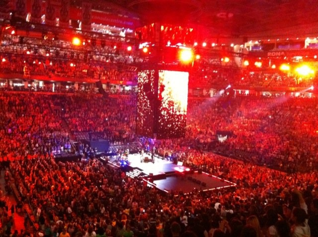 Thousands of students gather at the ACC for We Day in Toronto, Thursday, Sept. 30, 2010