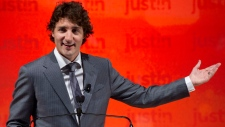 Liberal MP Justin Trudeau launches leadership bid
