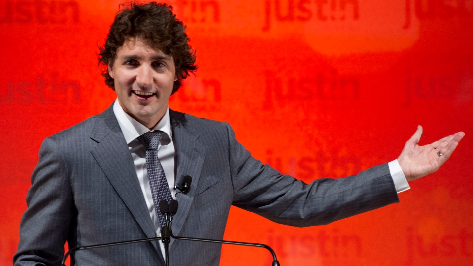 Liberal MP Justin Trudeau announces he will seek the leadership of the party Tuesday, October 2, 2012 in Montreal. THE CANADIAN PRESS/Paul Chiasson