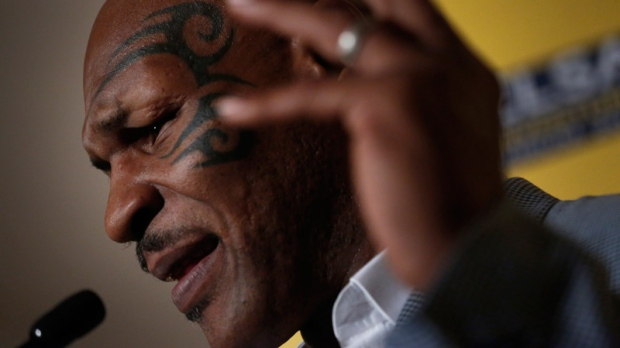 Mike Tyson speaks in Hong Kong on Sept. 12, 2012.