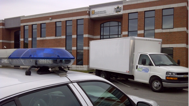 Revenue Quebec searched multiple Accurso companies on Oct. 3, 2012. (CTV Montreal/Cosmo Santamaria)