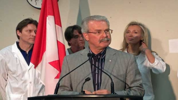 Agriculture Minister Gerry Ritz speaks at a press conference in Calgary.