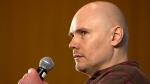Billy Corgan, frontman of The Smashing Pumpkins, holds a news conference promoting the group's album, 'Oceania,' in Mexico City, Saturday, Sept. 22, 2012. (AP / Christian Palma)