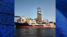 The work was done by a drillship called Stena Carron, owned by Swedish company Stena. (Photo courtesy of Chevron Canada)