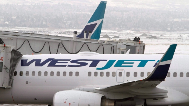WestJet is offering guests with flights cancelled because of COVID-19 refunds directly towards their original method of purchase. (File)