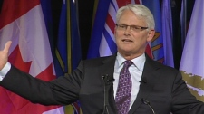 B.C. Premier Gordon Campbell speaks at the Union of British Columbia Municipalities convention on Friday, Oct. 30, 2010. (CTV)