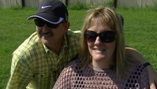 Sandra Nette is seen with her husband David Nette in this undated image taken from video.