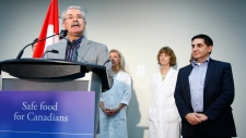 Agriculture Minister Gerry Ritz, left, and Canadian Food Inspection Agency (CFIA) President George D