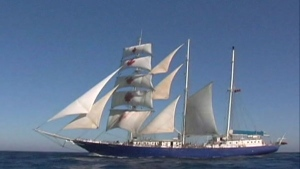 The 'Concordia' held 'Class Afloat', a private school that combines sailing a tall ship and classes with travel to exotic places.
