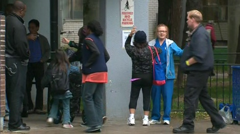 Some residents return home on Saturday, Oct. 2, 2010, after being displaced by a fire at 200 Wellesley Street East.