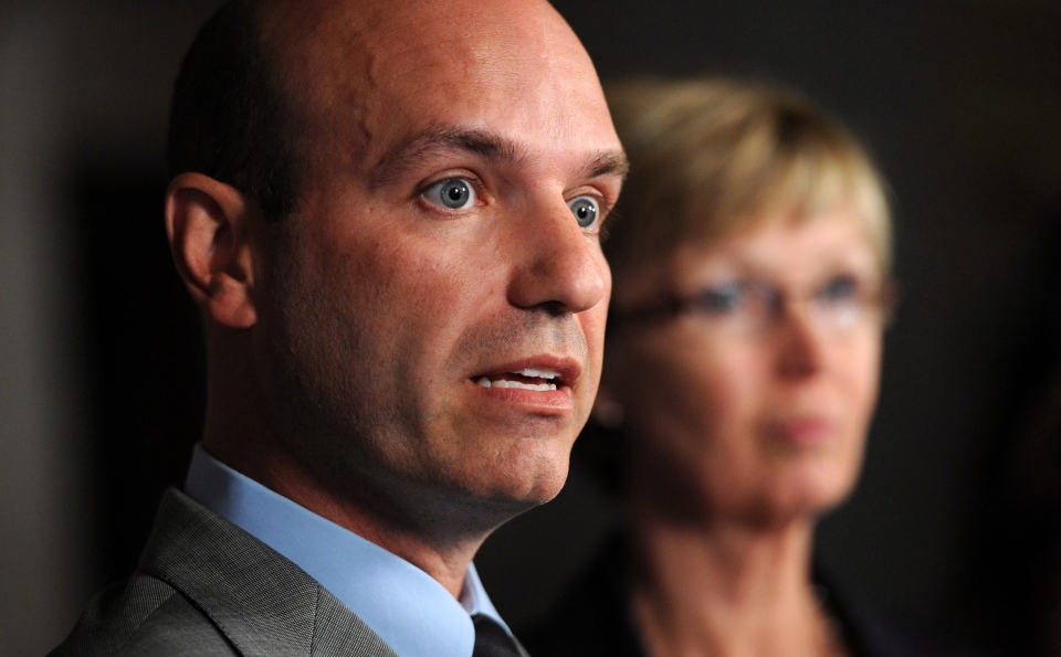 Official Opposition House Leader Nathan Cullen and Chief Opposition Whip Nycole Turmel hold a press conference on Parliament Hill in Ottawa on Monday, September 17, 2012., to discuss New Democrats priorities for the upcoming session of parliament. (Sean Kilpatrick / THE CANADIAN PRESS)