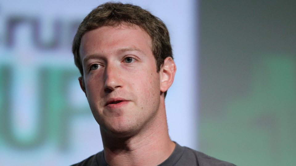 Facebook CEO Mark Zuckerberg speaks during a