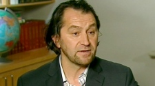 Imam Zijad Delic speaks to CTV reporter Roger Smith in Ottawa on Saturday, Oct. 2, 2010.