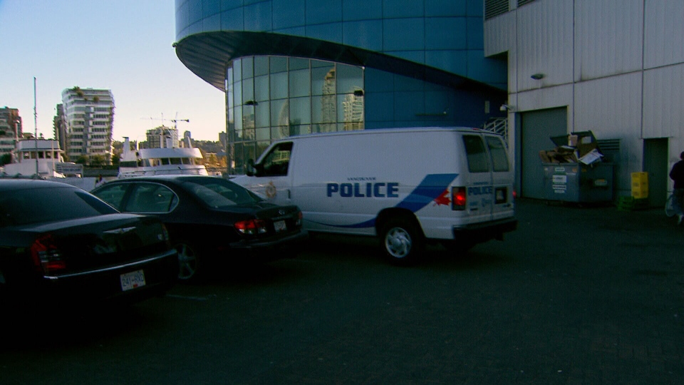 A Forensic Identification Unit van parks near the Cambie St. bridge in Vancouver on Friday, Oct. 5, 2012. (CTV BC)
