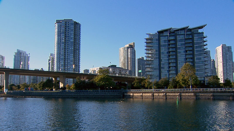 The Cambie St. bridge is seen from the water in this photo from video, in Vancouver, Friday, Oct. 5, 2012. (CTV BC)