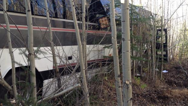 Bus crash in Alberta