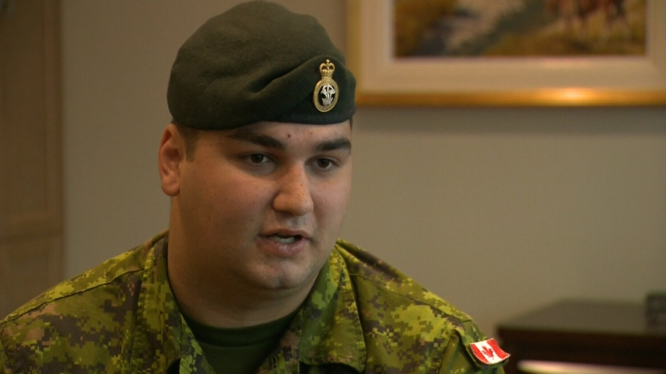 Cpl. Brock Blaszczyk discusses the injuries he sustained in Afghanistan. (CTV)