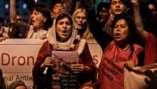 Pakistan, American citizens, banners, slogans