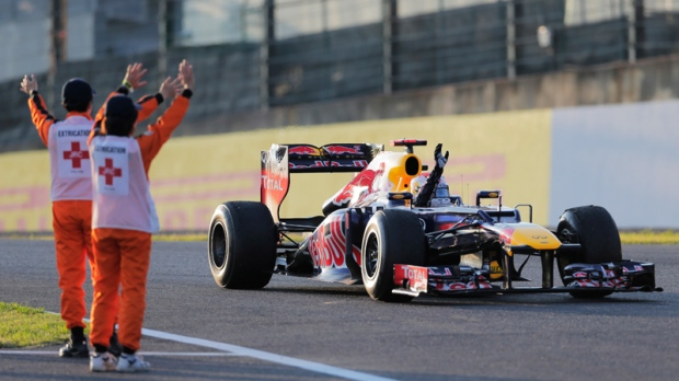 Sebastian Vettel wins the Japanese F1 Grand Prix
