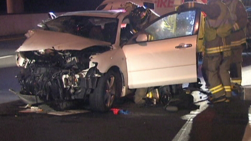 Car going wrong way on Hwy. 407 involved in crash