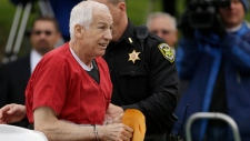Jerry Sandusky arrives for sentencing