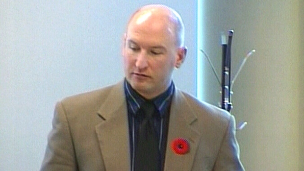 Constable Mike Wasylyshen is show in a disciplinary hearing on November 8, 2010.