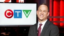 Kevin Crull, who was named as the successor to longtime CTVglobemedia head Ivan Fecan, appears on CTV News Channel on Wednesday, Oct. 6, 2010.