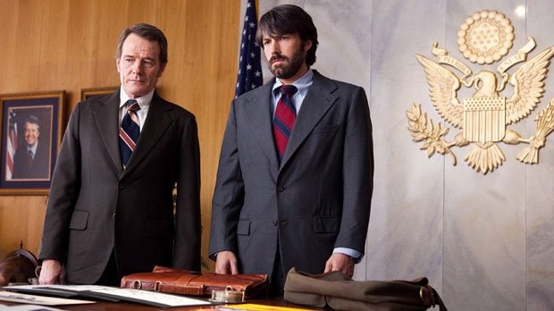 Bryan Cranston as Jack O'Donnell and Ben Affleck as Tony Mendez are shown in 'Argo,' a rescue thriller about the 1979 Iranian hostage crisis. (Warner Bros., Claire Folger)