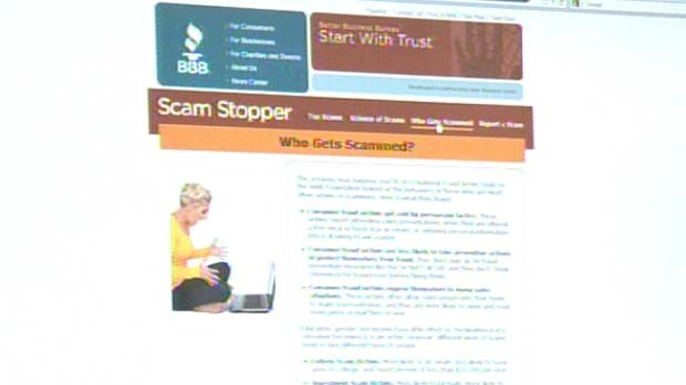 The website helps consumers identify scams.