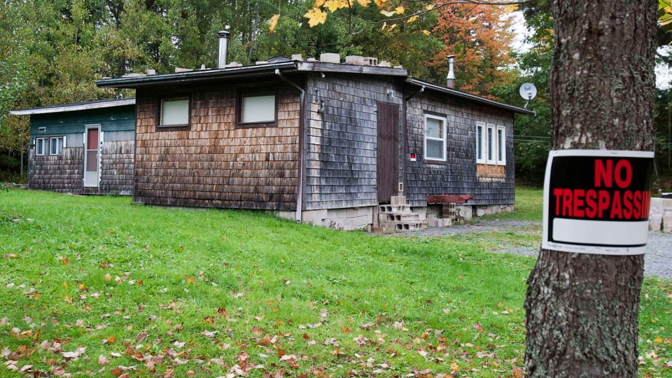 A residence in Upper Chelsea, N.S. is seen on Tuesday, Oct. 9, 2012. It is alleged that David James Leblanc and Wayne Alan Cunningham sexually assaulting and confined a teenage boy at this location. (Andrew Vaughan / THE CANADIAN PRESS)