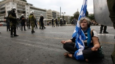 Athens protester peaceful Oct. 9, 2012
