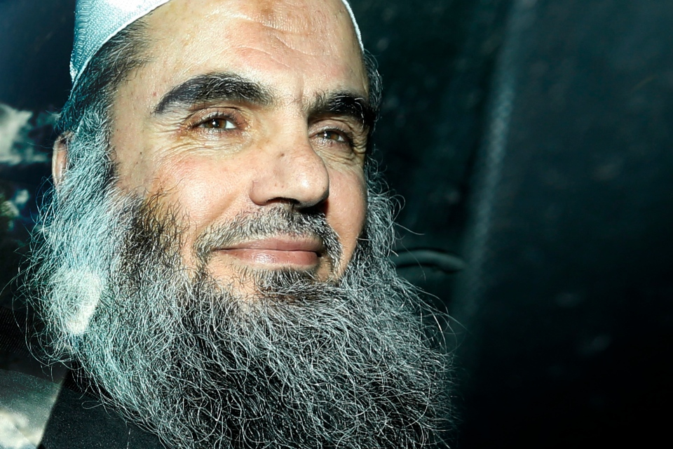 Abu Qatada is driven away after being refused bail at a hearing at London's Special Immigration Appeals Commission, which handles deportation and security cases, in London, Tuesday, April 17, 2012. (AP / Matt Dunham)